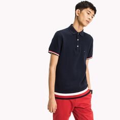 Image for Chunky Knit Slim Fit Polo Shirt from TommyUK