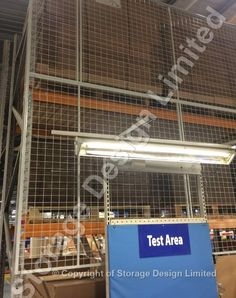 Safety mesh on pallet racking Pallet Racking, Storage Design, Wire Mesh, Project Management, Safety, Projects, Security Guard, Log Projects, Blue Prints