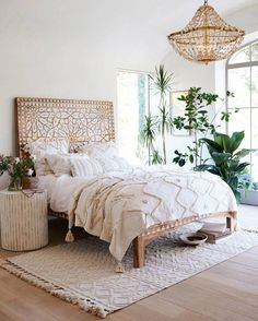 beautiful boho bedroom #interiors #decor #homeinspo