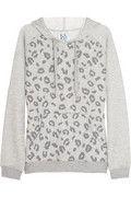 Zoe Karssen Leopard-print hooded jersey sweatshirt