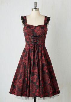 Red Skull Wedding Dress