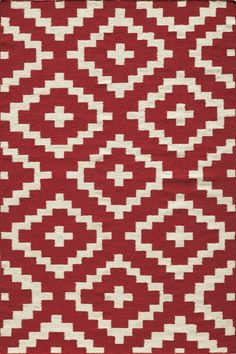 Momeni Laguna Red Geometric Rug & Reviews | Wayfair