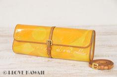 Louis Vuitton Beige Vernis Pochette Fleur Shoulder Clutch Bag M91117