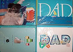 47e1dd5f645554 Father s Day Card Lot PAPYRUS American Greetings DAD Blue Waves Dog Beer  Shades  Papyrus  FathersDay