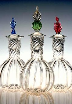 Blown glass decanters...love em!