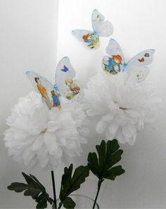 438807ca3 Paddington Bear 3D Wall Sticker Butterflies Nursery, Christening, Bedroom  Accessories Wall Art Home Decorations