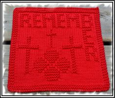 Remembrance Day Dishcloth
