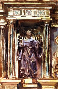 The Athenaeum - In a Church at Granada (John Singer Sargent - ) 1895