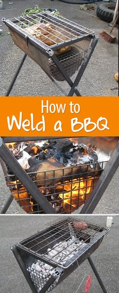 Meat tastes better when cooked on a BBQ you welded yourself. Smoker Cooking, Fire Cooking, Outdoor Cooking, Metal Projects, Welding Projects, Barbacoa, Bbq Pitmasters, Metal Fire Pit, Grilling Tips