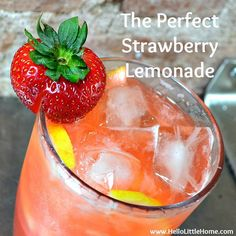 The Perfect Strawberry Lemonade | Hello Little Home