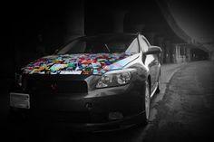 #stickerbomb R Vinyl, Vehicle Wraps, Sticker Bomb, Car Mods, Weird Cars, Car Wrap, Vehicles, Check, Vehicle