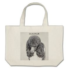 Standard Poodle (Parti) Large Tote Bag - party gifts gift ideas diy customize