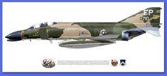 McDonnell Douglas F-4C Phantom II 497th TFS 8th TFW Ubon Thailand 1966-1967
