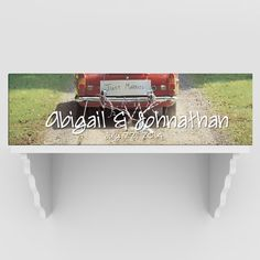 Personalized Just Married Canvas Print