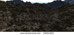Rocky terrain entirely of the rocky mountains at winter. 3D Illustration, 3D rendering - stock photo