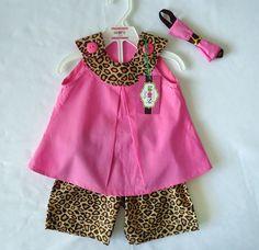 Girl Animal Print Set #loopsybaby #babygirl #animalprint #giraffe #safari #zoo