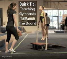 Quick Tip: Teaching gymnasts to punch the board #gymnastics