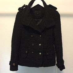 Steve Madden•Coat Black Steve Madden Coat super cute and in really good condition. Slight tear in the armpit. But doesn't alter the jackets appearance. Steve Madden Jackets & Coats Pea Coats