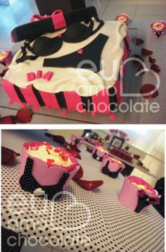 Bolo e Cupcakes Cha Lingerie