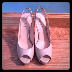 Guess Platform Heels Only worn once! They're super cute and comfortable! Guess Shoes Platforms