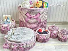 Sandra Roque Artesanatos: conjunto cestos organizadores bebê