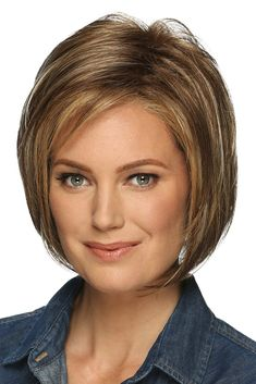Shop our online store for a selection of bob-cut hair wigs for women. These natural hair and synthetic wigs fit petite, average and large head sizes. Bobbed wig styles include straight, wavy and curly textures in your favorite modern or classic hairstyle. Bob Hairstyles For Fine Hair, Trending Hairstyles, Hairstyles Haircuts, Cute Bob Haircuts, Asymmetrical Bob Haircuts, Inverted Bob, Gold Blonde Highlights, Short Hair Cuts, Short Hair Styles