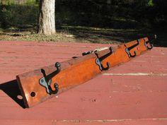 Rustic Furniture  Rustic Wood Coat Rack  Antique by DebbenFarm