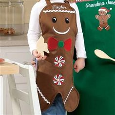 gingerbread man apron inspiration... @Ann Lusher u need this :) your such a great teacher !!!!!!!!!!!!!!!!!!