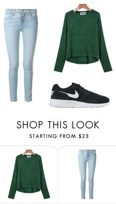 """Untitled #32"" by mani0809 ❤ liked on Polyvore featuring Frame Denim and NIKE"