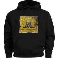 Don't tread on me sweatshirt hoodie Men's size hooded sweatshirt Gadsden flag #Gildan #Hoodie