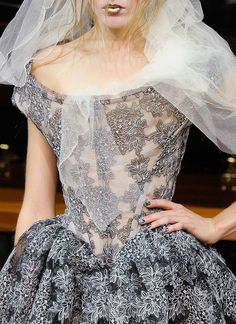 Vivienne Westwood own detail ..it's SO Cinderella!!  Via Not Ordinary Fashion