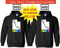 UTAH Pride His and His Lgbtq Pride Hoodie Equality by ALLGayTees