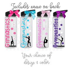 b369eaadf0 Personalized Gymnastics Water Bottle /Water by HelloHippoDesigns. Stephanie  Gale-Hickman · Gymnast gifts
