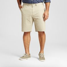 Men's Big & Tall Club Shorts Khaki (Green) 48 - Merona