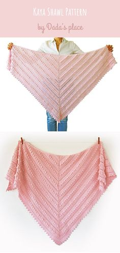 This beautiful crochet shawl is easy to make, especially with beginner friendly crochet pattern with step-by-step pictures designed by Dada's place. If made with a thin crochet thread, it can be gorgeous wedding shawl, or elegant night shawl. Crochet Mittens, Crochet Shawl, Crochet Hooks, Knit Crochet, Crochet Wrap Pattern, Suit Pattern, Pineapple Crochet, Triangle Scarf, Knitting Accessories