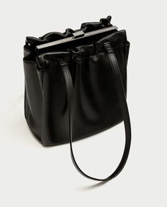 Image 1 of MINI GATHERED TOTE BAG from Zara