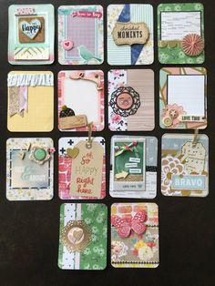 Handmade project life card set, pocket cards, filler cards, 3x4 Pocket Pal, Pocket Cards, Project Life Cards, Pocket Letters, Paper Hearts, Life Inspiration, Journal Cards, Embellishments, Journaling