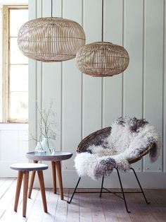 Looking at rattan lighting inspiration for the spring season a popular material for all furniture for sustainability, decorative and simple features. Decor, Bamboo Pendant Light, Interior, Interior Inspiration, Home Decor, House Interior, Home Deco, Scandinavian Decor, Home And Living