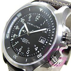 Hamilton KHAKI (ハミルトン カーキ) H77615833 Navy GMT/ネイビー 自動巻き レザー メンズウォッチ 腕時計 【楽ギフ_包装選択】【楽天市場】
