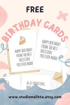 Funny Digital Download Greeting Cards Free for Sister Free Printable Birthday Cards, Funny Birthday Cards, Free Printables, Happy Birthday, Greeting Cards, Make It Yourself, Digital, Happy Brithday, Free Printable Anniversary Cards