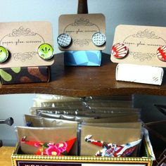 """@boutique208's photo: """"#boutique208 #pittsburgh #origami #cufflinks #ornaments"""""""