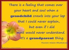 It is a grandparent thing!