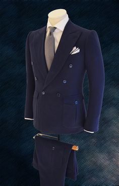 Cifonelli : the men who brought bespoke into a new era – Parisian Gentleman Mens Fashion Suits, Mens Suits, Tweed Jacket, Suit Jacket, Style Costume Homme, Mode Costume, Style Masculin, Wide Trousers, Fashion Couple