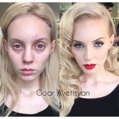 Makeup Transformation, Beauty Make Up, Hair Beauty, Makeup Tips, Hair Makeup, Makeup Before And After, Power Of Makeup, Contour Makeup, Makeup Looks