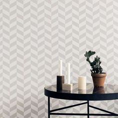 I was looking forward to the new Ferm Living Fall / Winter 2014 collection. Ferm Living focuses its colle. Ferm Living Wallpaper, Grey Wallpaper, Wallpaper Paste, Modern Wallpaper Designs, Designer Wallpaper, Scandinavian Nursery Furniture, Black Marble Coffee Table, Design Simples, Home Decoracion