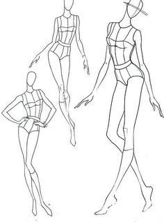Fashion illustration poses faces Ideas for 2019 Fashion Figure Drawing, Fashion Model Drawing, Fashion Design Drawings, Fashion Sketches, Fashion Illustration Poses, Fashion Illustration Template, Illustration Mode, Illustrations, Fashion Figure Templates