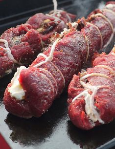 Try this stuffed venison backstrap recipe after coming home from the hunt. Fresh venison, cream cheese, bacon, and more. Deer Backstrap Recipes, Deer Tenderloin Recipes, Venison Backstrap, Venison Tenderloin, Roast Brisket, Pork Roast, Deer Recipes, Wild Game Recipes, Game