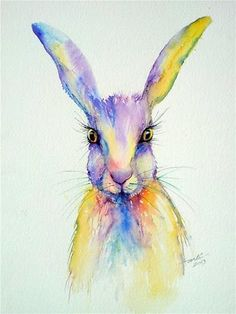 """""""Wide Eyed"""" - watercolor by ©Arti Chauhan (via DailyPaintworks)"""