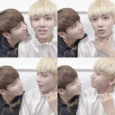 a normal person would've been weirded out by this. But Tae reciprocated. He's a precious human bean and a great friend