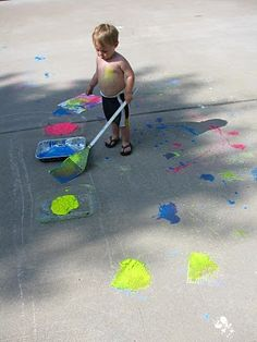 Fly swatter + chalk paint = So much fun!